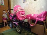 Недорого продаем зимне-летнюю детскую коляску розового цвета